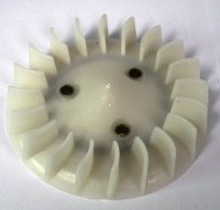 PLASTIC FAN 50-90cc 2-stroke OD=118mm Bolts c/c=42 Fits Eton 50cc, 70cc 90cc ATVs and Scooters Plus other brands **O-Ring sold separately under part # 650126