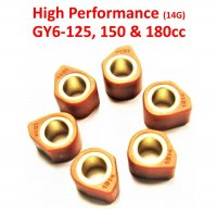 18X14 (14G) High Performance Clutch Sliders Set For GY6-125,150-180cc Scooters, ATVs,GoKarts