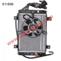 "250cc ATV Radiator & Fan Radiator Fits E-Ton Vector 250 ATVs L=13"" W=8"" Bolts Ctr to Ctr=8"" NOTE: There are some bent fins on these radiators due to packaging"