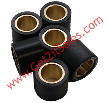 15x12 (6 5g) 2 stroke ATV, Scooter Clutch Roller Weights Set Fits 50