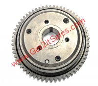 Starter Clutch Assembly Fits E-Ton Yukon YXL150, CXL150, Viper RXL150R, ATVs, Beamer R4-150, Matrix 150, Sport 150, Tomos Nitro 150, Scooters + Others