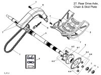 Rear Drive Axle Chain and Skip Plates