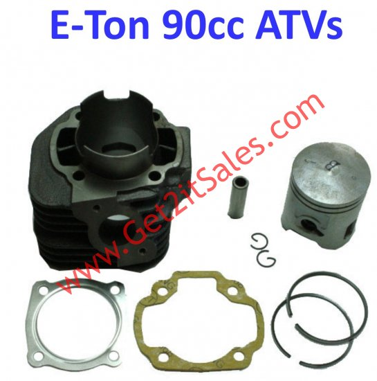 Cylinder Piston Top End Kit 90cc 2 Stroke Fits E-Ton Implus