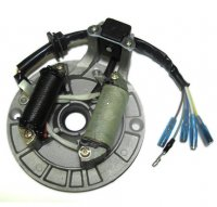 STATOR 50-125cc 4 Stroke Fits Many Chinese ATVs-Dirt Bikes 2 Coils 5 WIRES