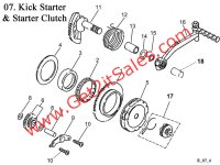 Kick Starter and Starter Clutch
