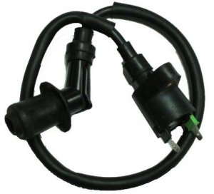 "Ignition Coil Plug Cap=45deg 16"" 2 Terminals Fits Most ATVs-Scooters-GoKarts With GY6 50-150cc Engines"