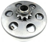 "Rear Clutch Fits many GoCarts-Mini Bikes-Dirt Bikes Shaft ID=16mm-5/8"" OD=107 Sprocket 11th, #35 Chain"