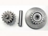 Starter Gear CG125-250cc 16th Small Gear=16/14th Large Gear=18th