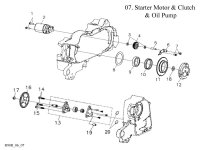 Starter Motor and Oil Pump