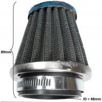 Air Filter ID=48mm, Total L=89mm