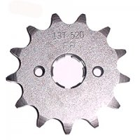 FRONT SPROCKET #520 13th Bolts=2x34mm Ctr to Ctr, Splines=6 Shaft=18/20mm (shortest/longest point) 50-90cc Many Taiwan ATVs