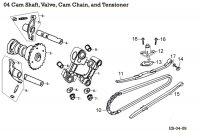 Cam Shaft, Valve, Cam Chain, and Tensioner