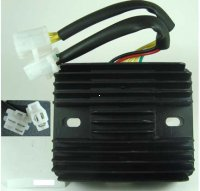 Voltage Regulator Rectifier 200-300cc Chinese ATVs, GoKarts, Scooters 3 Pin in 3 Pin Jack + 3 Pins in 4 Pin Jack 110x90, Bolts Ctr to Ctr 80mm