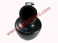 HIGH PERFORMANCE Carbon Graphite AIR FILTER ID=42mm Fits 125-150cc ATV-Scooters-GoCarts with PD24J Carb + Others