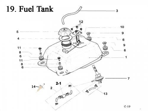 fuel tank   get 2 it parts  llc  atv  scooter  go kart