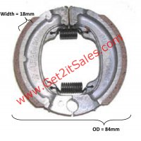 Brake Shoes OD= 84x18mm