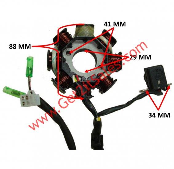 Stator 49-150cc GY6 Fits Many Chinese ATV, GoKarts ... on 6 wire cdi box diagram, cd 200 cdi wiring diagram, honda 200x cdi wiring diagram, shindengen cdi wiring diagram, gy6 cdi wiring diagram, cdi ignition diagram, new racing cdi wiring diagram, moped cdi diagram,