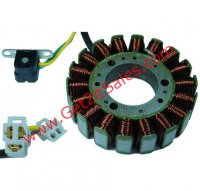 STATOR 150-250cc 4 Stroke 18 Coil OD=104 ID=42mm 3 Pin in 3 Pin Male Jack 2 Pin in 2 Pin Male Jack