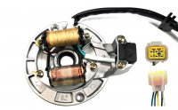 Stator 2 Coil w/ Base Plate 5 Pin in 6 Pin FM Jack (Base Plate OD=114mm)