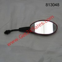 MIRROR 8mm (RH Thread) Red/Black Can be used on left or right hand side