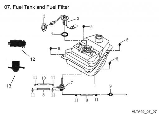 fuel tank and fuel filter   get 2 it parts  llc  atv