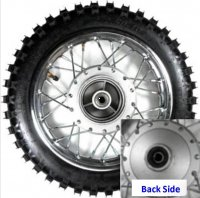 "Wheel Rim (Front) (10"") WITH TIRE 1.40x10 For 80mm Drum Brake Axle ID=12 Tire 2.50x10"