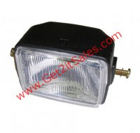 "Headlight Universal 5"" X 3.5"" BULB NOT INCLUDED Fits Many Tomos Mopeds, ATVs, + Others Uses Bulb #144701"