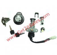 Ignition Switch Fits Many 50-150 Scooters Some Vento Zip, Keeway Hurricane, CPI + more 4 Pins in 4 Pin FM Jack + 1 wire