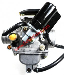 CARBURETOR PD24J 125-150cc Engines KEI-HIN TOP QUALITY-Best Value Intake OD=32mm Air Box OD=42mm Fits Most GY6 125-180 ATV-GoKarts-Scooters-Motorcycles