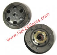 CLUTCH COMPLETE 49cc GY6-QMB 4 Stroke Bell ID=107mm, Shaft=12mm, Splines=22 Fits Most 49cc Chinese Scooters