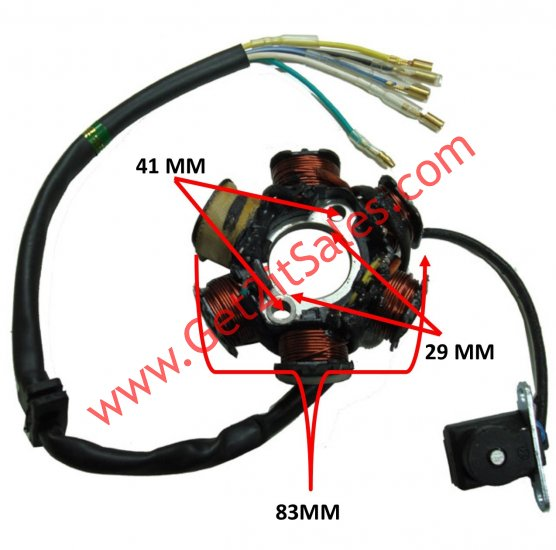 Stator 50 125cc 4 Stroke Fits Many Chinese Atvs Dirtbikes 6 Coils