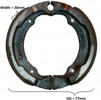 BRAKE SHOES SET OD= 77x20mm
