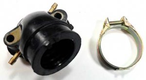 INTAKE MANIFOLD GY6125, GY6150 -180cc 4 Stroke Fits Most Chinese ATV-Scooters-GoCarts ID=22 ID=32 Bolts C/C=45mm Bolt Height=34mm 1 Nipple