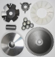 VARIATOR KIT 4 Stroke GY6-QMB 49cc Shaft=14mm Fits Most Chinese 49cc Scooters