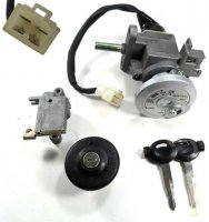 Ignition Switch (seat release type) 4/4 FM Jack Bolt holes c/c=50mm Shaft L=33mm