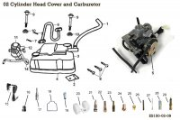 Carburetor and Head Cover