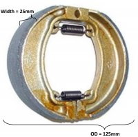 Brake Shoes OD=125x25mm