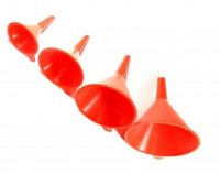 "FUNNEL SET (Long Spout) 4pcs OD=4.5"",3.75"",2.75"",2"""