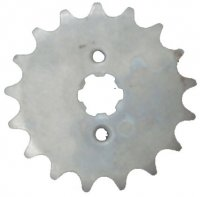 Front Sprocket #420 14th Bolts=2x30mm Ctr to Ctr, Splines=6 Shaft=14/17mm (shortest/longest point) 50-125cc MOST CHINESE ATVs