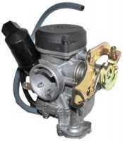 Runtong CVK PD19J Carburetor with booster pump Intake ID=19 OD=28 Air Box OD=40 Fits Most 49-100cc GY6 Belt Driven Scooters