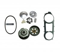 GY6-150 (150cc) Long Case Clutch & Belt Kit Front Clutch Variator, Rear Clutch Pulley, Powerlink Drive Belt & Belt Cover Gasket For units with the 842x20x30 Belt