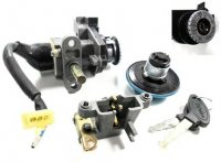 Ignition Switch (seat release type) 3/3 FM Jack, 1 bullet connector Bolt holes c/c=50mm