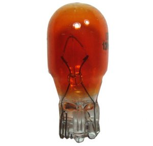 12V 10W XY AMBER Bulb Glass Wedge T13 Base W=9mm