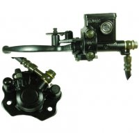 Rear Brake Assembly Fits Most Chinese Mini ATVs Caliper Bolts Ctr to Ctr 63mm Line L= 55 inches Caliper L=85 W=77