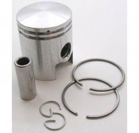 PISTON KIT 49cc 2-stroke B=40 Pin=12 H=47 Ctr Pin To Top=25mm Fits Most GARELLI Mopeds