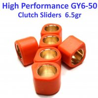 16X13 (6.5g) High Performance Clutch Sliders Set for GY6-49, 50, 70, 80cc 4 Stroke Scooter Engines