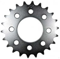 Rear Sprocket #415HD 22th Bolt Pattern=8 holes each are 24mm Ctr to Ctr, Shaft=42mm TOMOS A35/A55