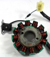 STATOR (120W) 12 Pole 3 Pins in 3 Pin Jack + 1 Wire OD=92 ID=29 H=28 Bolts c/c=41 Coil c/c=34