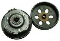 Rear Drive Clutch-Driven Pulley GY6-125, GY6-150 Chinese ATVs, GoKarts, Scooters Bell ID=125mm, Shaft =15mm, Splines=19