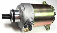 STARTER MOTOR Fits Most GY6-125, GY6-150 Chinese ATVs, GoKarts, Scooters Shaft OD=11.5mm Spline=9 Flange= 30mm 1 ring terminal Bolts c/c=77mm
